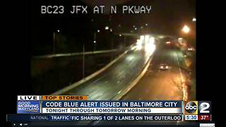 Another Cold Blue alert issued for Baltimore area - Video