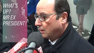 What Hollande's up to after clearing out of office - Video