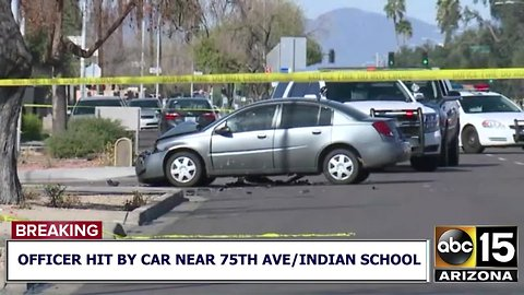 RAW: Scene where officer was hit by vehicle in Phoenix