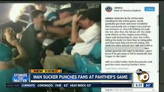 Man sucker punched at Pather's game - Video