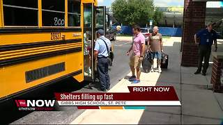 Shelters filling up fast - Video