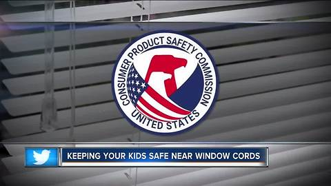 Authorities urge child safety around blinds after infant death