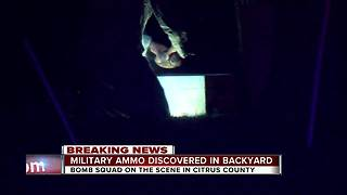 Bomb squad responds after possible military munition found in Spring Hill - Video