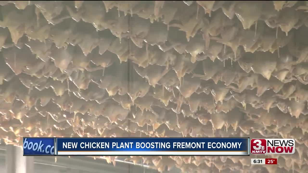 New Fremont chicken plant helping to boost local economy
