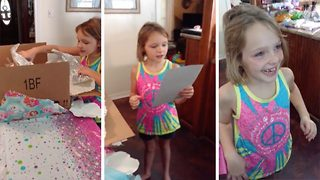 Nine year old gets surprise of life with Disney World trip
