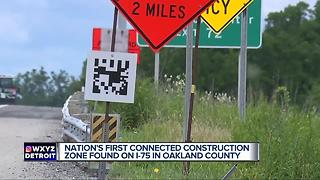 Nation's first connected construction zone found on I-75 in Oakland County - Video