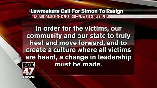 Two Democratic lawmakers call on MSU President to resign - Video
