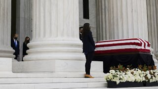 Remaining Supreme Court Justices Visit Ginsburg's Casket