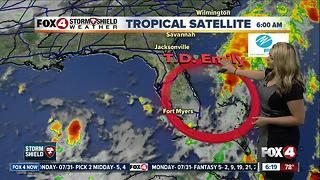 Tropical Depression Emily: 5am Tuesday update - Video