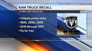 Fiat Chrysler recalling more than 1.4M Ram pickup trucks, tailgates can open unexpectedly - Video
