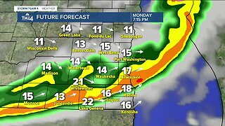 Showers and storms moving in Monday evening