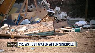 Pasco County testing drinking water after giant sinkhole brings contamination concerns - Video
