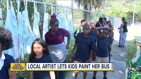 Tampa Bay area artist gives kids a chance to express themselves by painting the Nomad Art Bus