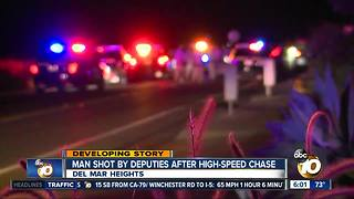 Man shot by deputies after high-speed chase - Video