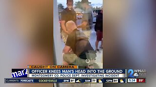 Caught on Camera: Officer knee's man's head into the ground