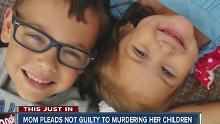 Mom pleads not guilty in murder of her two young children - Video