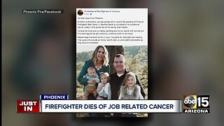 Phoenix firefighter Brian Beck, Jr. passes after battle with occupational cancer