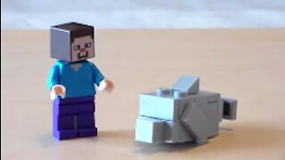 Lego Minecraft Dolphin Tutorial