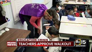 Arizona teachers vote to approve walk out - Video
