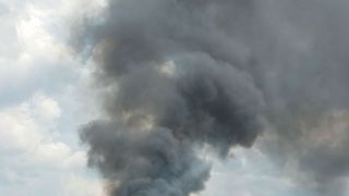 Multiple Explosions, Fire at Woodburn Auto Shop Create Huge Smoke Clouds - Video