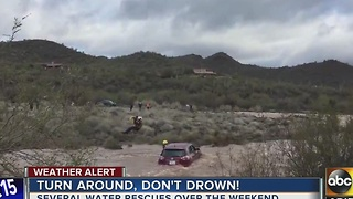 Turn around, don't drown! Another flash flood watch begins Monday - Video