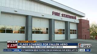 Flags lowered at fire stations after captain dies - Video