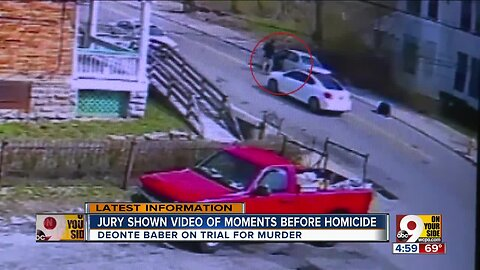 Jury shown video of moments before homicide