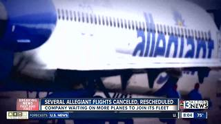 Nearly 2 dozen Allegiant flights coming to or from Las Vegas canceled, rescheduled - Video
