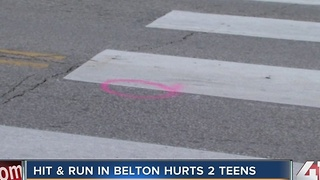 Hit & run in Belton hurts two teens - Video