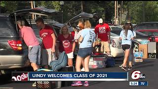 University of Indianapolis welcomes biggest freshman class - Video