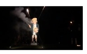 Giant Trump Effigy Burns in England on Anniversary of Gunpowder Plot - Video