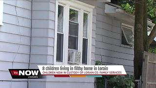 8 children moved from filthy home in Lorain - Video