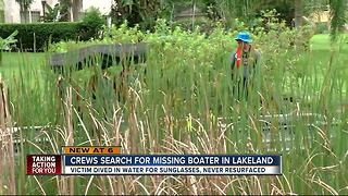 Crews search for missing boater