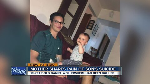 Mother shares the pain of son's suicide