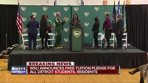Wayne State giving free college tuition to all Detroit high school grads, residents