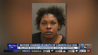 2-month-old dies from blunt force trauma, mother arrested