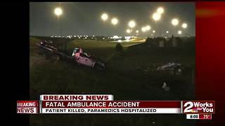 Patient killed during ambulance crash in OKC - Video
