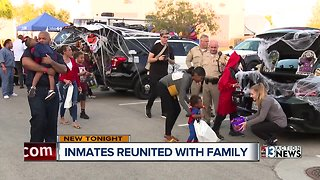 Inmates reunited with their families