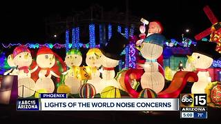 Phoenix neighborhood concerned over Lights of the World noise - Video