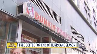 Dunkin' Donuts celebrates end of hurricane season by offering FREE iced coffee to Florida residents - Video