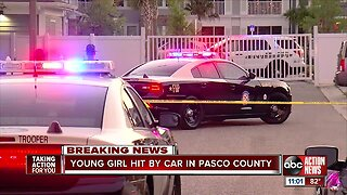 3-year-old girl in critical condition after being hit by car in Pasco County