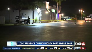 Deputy presence in a North Fort Myers shopping center early Monday