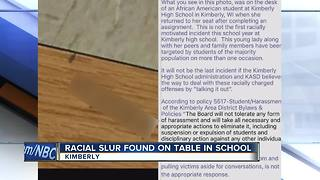 Racial slur found written on table at Kimberly High School - Video