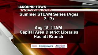 Around Town 8/14/17: Summer STEAM series, Paws for reading - Video