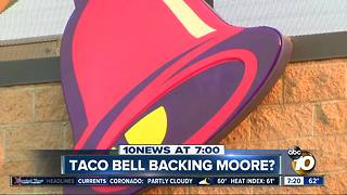 Taco Bell backing Roy Moore? - Video