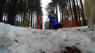British Huskies finally get their chance to run in snow - Video
