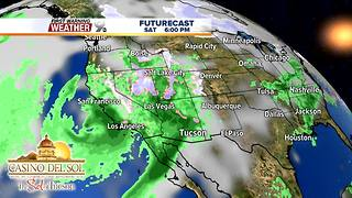 FORECAST: Warming trend leads to more rain - Video