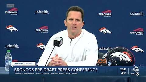 Broncos GM discusses NFL Draft strategy ahead of next week's draft