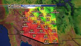 Valley highs in the 80s and 90s on Wednesday - Video