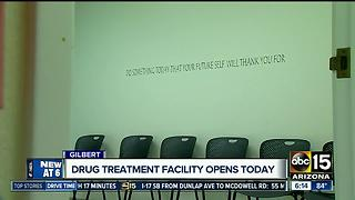 Center opens to help combat opioid addiction in Gilbert - Video
